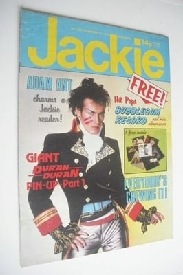 <!--1981-11-21-->Jackie magazine - 21 November 1981 (Issue 933 - Adam Ant c