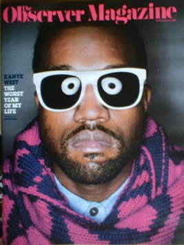 <!--2008-11-30-->The Observer Magazine - Kanye West cover (30 November 2008