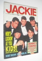 <!--1989-12-16-->Jackie magazine - 16 December 1989 (Issue 1354 - New Kids On The Block cover)
