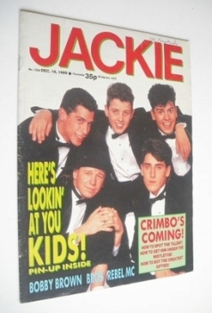 Jackie magazine - 16 December 1989 (Issue 1354 - New Kids On The Block cover)