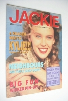 Jackie magazine - 9 December 1989 (Issue 1353 - Kylie Minogue cover)