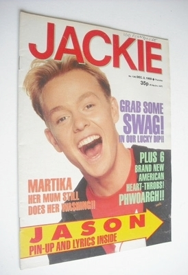 <!--1989-12-02-->Jackie magazine - 2 December 1989 (Issue 1352 - Jason Dono