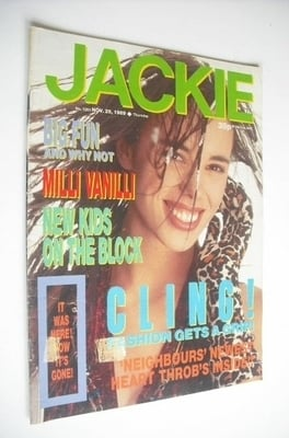 <!--1989-11-25-->Jackie magazine - 25 November 1989 (Issue 1351)