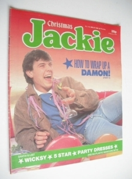 Jackie magazine - 27 December 1986 (Issue 1199 - Simon O'Brien cover)