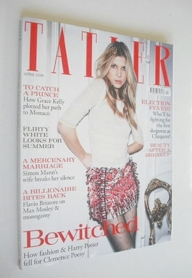 <!--2010-04-->Tatler magazine - April 2010 - Clemence Poesy cover
