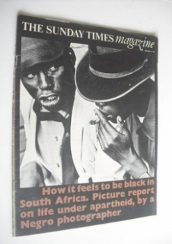 The Sunday Times magazine - South Africa cover (27 November 1966)