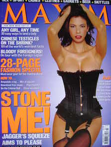 <!--2000-03-->MAXIM magazine - Luciana Gimenez cover (March 2000)