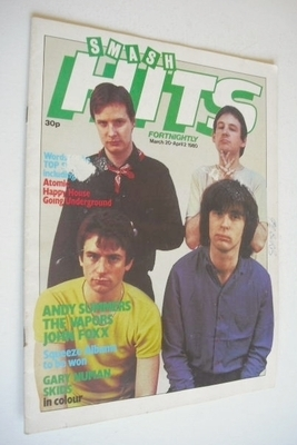 <!--1980-03-20-->Smash Hits magazine - XTC cover (20 March - 2 April 1980)