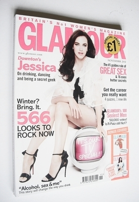 <!--2012-11-->Glamour magazine - Jessica Brown Findlay cover (November 2012