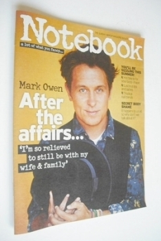Notebook magazine - Mark Owen cover (16 June 2013)