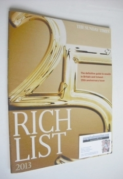 The Sunday Times Rich List 2013 magazine