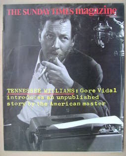 <!--1986-08-03-->The Sunday Times magazine - Tennessee Williams cover (3 Au