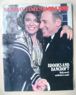 <!--1984-02-12-->The Sunday Times magazine - Anne Bancroft and Mel Brooks c