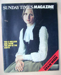 <!--1983-06-12-->The Sunday Times magazine - Anya Smith cover (12 June 1983
