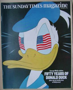<!--1984-11-18-->The Sunday Times magazine - Donald Duck cover (18 November