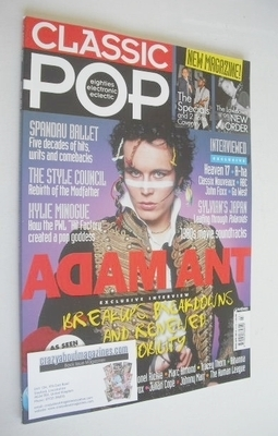 <!--2013-03-->Classic Pop magazine - Adam Ant cover (March/April 2013)