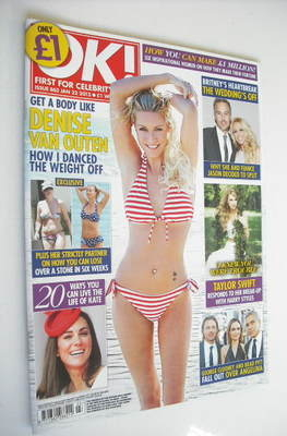<!--2013-01-22-->OK! magazine - Denise Van Outen cover (22 January 2013 - I