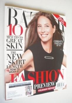 Harper's Bazaar magazine - June 2013 - Christy Turlington cover