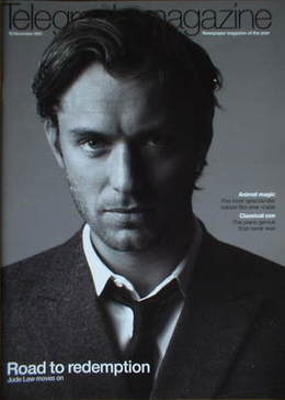 <!--2007-11-10-->Telegraph magazine - Jude Law cover (10 November 2007)