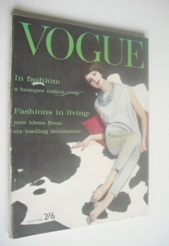 British Vogue magazine - 15 March 1961 (Vintage Issue)