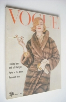 British Vogue magazine - 1 October 1961 (Vintage Issue)