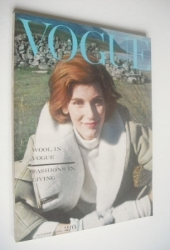 British Vogue magazine - 15 October 1961 (Vintage Issue)