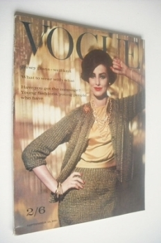 British Vogue magazine - 15 September 1961 (Vintage Issue)