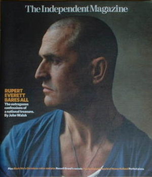 The Independent magazine - Rupert Everett cover (15 December 2007)