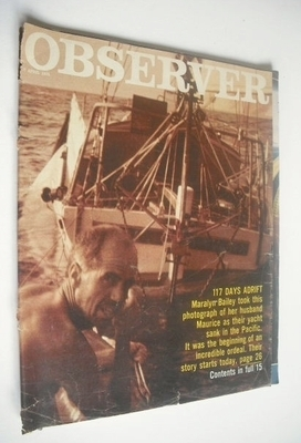 <!--1974-04-07-->The Observer magazine - 117 Days Adrift cover (7 April 197
