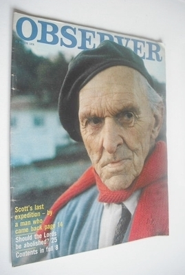 <!--1974-03-31-->The Observer magazine - Tryggve Gran cover (31 March 1974)