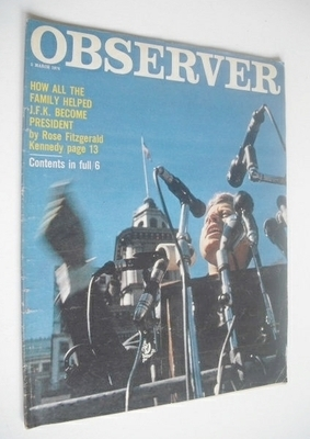 <!--1974-03-03-->The Observer magazine - JFK cover (3 March 1974)
