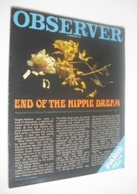<!--1971-02-14-->The Observer magazine - End Of The Hippie Dream cover (14