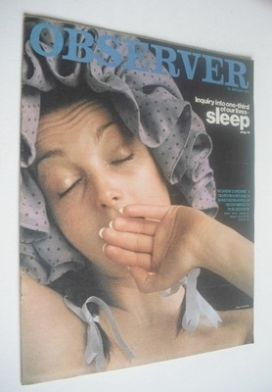 <!--1971-01-24-->The Observer magazine - Sleep cover (24 January 1971)