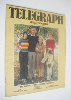 The Sunday Telegraph magazine - Frank Muir and Family cover (19 September 1976)