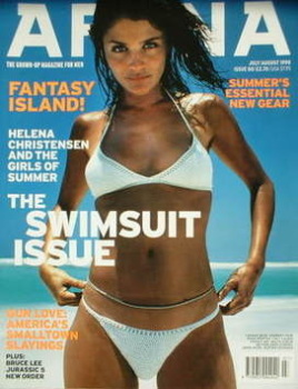 Arena magazine - July/August 1998 - Helena Christensen cover