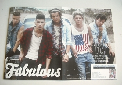 <!--2013-08-18-->Fabulous magazine - One Direction cover (18 August 2013 -