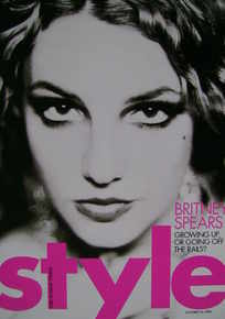 <!--2003-10-26-->Style magazine - Britney Spears cover (26 October 2003)