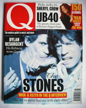 Q magazine - Keith Richards and Mick Jagger cover (August 1994)