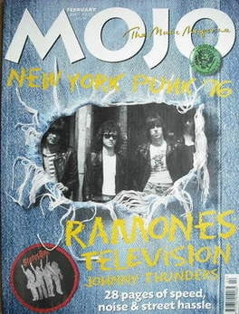 MOJO magazine - New York Punk '76 cover (February 2001 - Issue 87)