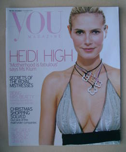 <!--2004-11-07-->You magazine - Heidi Klum cover (7 November 2004)