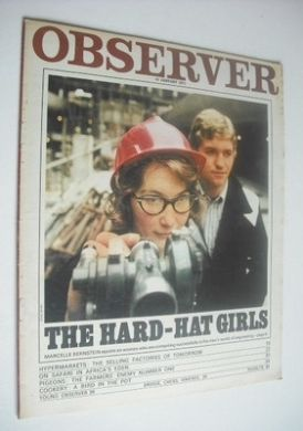 <!--1971-01-31-->Observer magazine - The Hard-Hat Girls cover (31 January 1