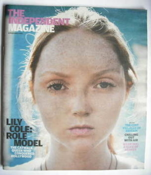 The Independent magazine - Lily Cole cover (19 September 2009)