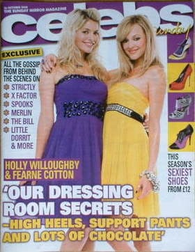 <!--2008-10-26-->Celebs magazine - Holly Willoughby and Fearne Cotton cover