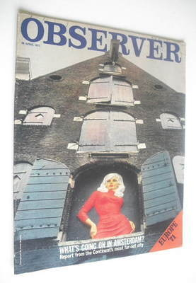 <!--1971-04-25-->The Observer magazine - What's Going On In Amsterdam cover