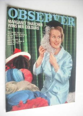 <!--1971-02-07-->The Observer magazine - Margaret Thatcher cover (7 Februar