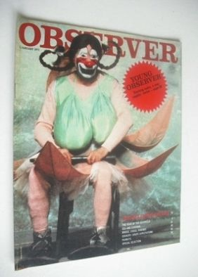 <!--1971-01-03-->The Observer magazine - Fellini's Circus Dreams cover (3 J