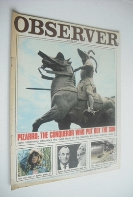 <!--1970-06-28-->The Observer magazine - Pizarro cover (28 June 1970)