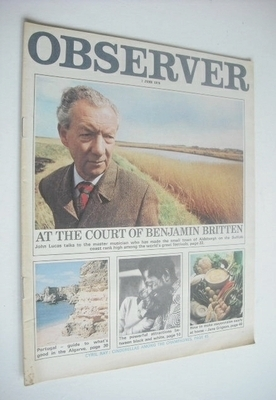 <!--1970-06-07-->The Observer magazine - Benjamin Britten cover (7 June 197