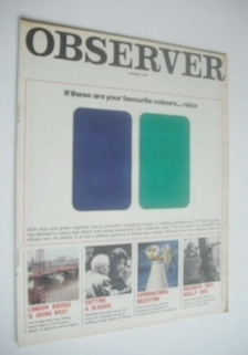 <!--1970-03-08-->The Observer magazine - Colour Test cover (8 March 1970)