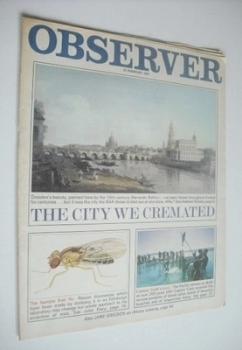 The Observer magazine - Dresden cover (15 February 1970)